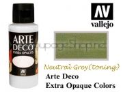 ACRYLICOS VALLEJO S.L. Arte Deco акрил, СУПЕР МАТ, 60мл - NEUTRAL GRAY