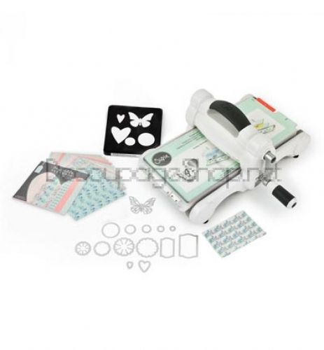 SIZZIX BIG SHOT STARTER KIT WHITE & GRAY - СТАРТОВ КОМПЛЕКТ
