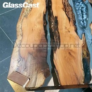 GlassCast 50 Clear Epoxy Coating Resin (River Tables)  Епоксидна КРИСТАЛНА  ТВЪРДА смола  - 32.00кg Kit