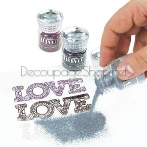 NUVO EMBOSSING POWDER - ЕМБОСИНГ ПУДРА CLASSIC SILVER - 601N