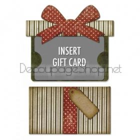 SIZZIX ЩАНЦИ ЗА ИЗРЯЗВАНЕ И ПАПКА - Gift Card Package